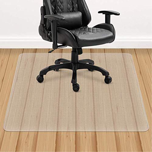 ACMOMO 90 x 120 cm, 100% transparente, protección para el suelo, espuma EVA para silla de oficina, azulejos, protector de suelo, alfombrilla para silla de oficina, estera para silla