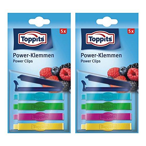 10 Stück Toppits® Power-Klemmen / Gefrierclips (Gefriersicher bis -40°C)