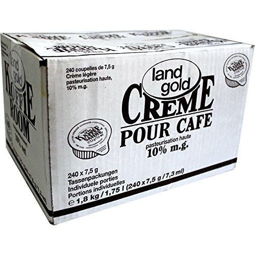 Landgold Kaffeesahne 10% 240x7,5g Einzelportionen (1,8kg Karton)