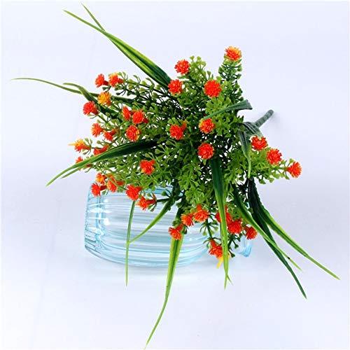Künstliche Blumen 1pcs kleines Bündel Simulation Gladiolen Gypsophila Kunststoff gefälschte Blume im Freien Zaun Bonsai Gras Hauptdekor Blumenarrangement (Color : 06)
