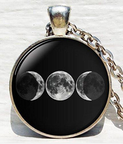 Rainbow Dreifache Göttin Anhänger, Wicca Schmuck, Mond Göttin Schmuck, Wicca Halskette, Göttin Halskette Göttin Schmuck Schlüsselanhänger Schlüsselanhänger