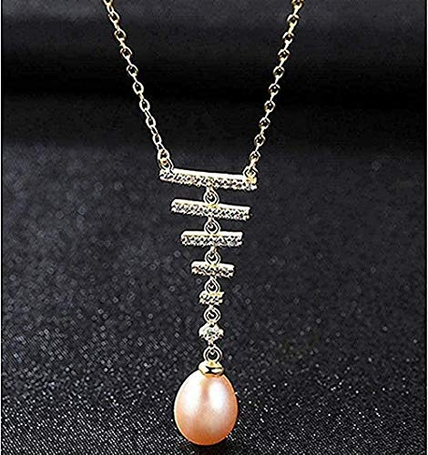 NC188 Necklace Freshwater Pearl Necklace Simple Line Pendant Necklace Fine Jewelry for Women Size 40 + 5Cm