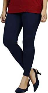 Dollar missy women's cotton slim fit ankle length leggings free size (navy blue)