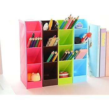 Lani Ang Multifunction Four Grid Candy-colored Desktop Debris Storage Organizer Box for Office,stationery Pen, Socks, Make up Tools(set of 4,ramdon color)
