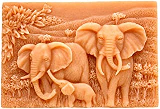 Handmade Soap Mold, Elephant Family Pattern Craft Art Silicone Soap Mold, Craft Molds DIY Handmade Soap Molds - Soap Making Supplies by YSCEN