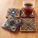 Native Trails Moroccan Midnight Hand Painted Tile Coasters & Reviews | Wayfair