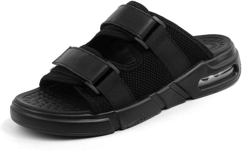 ANNFENG Fashion Tropical Summer Beach Outdoor Lightweight Waterproof Sandals For Men Comfort Elegant Leisure Flip-flops Casual Slip On Style Lycra+Knitting Strap with Buckledecro Hook&Loop