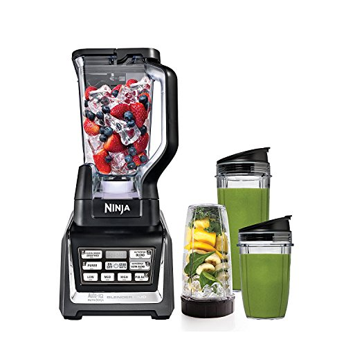 SharkNinja Blender Duo with Auto iQ, Silver/Black (Renewed)