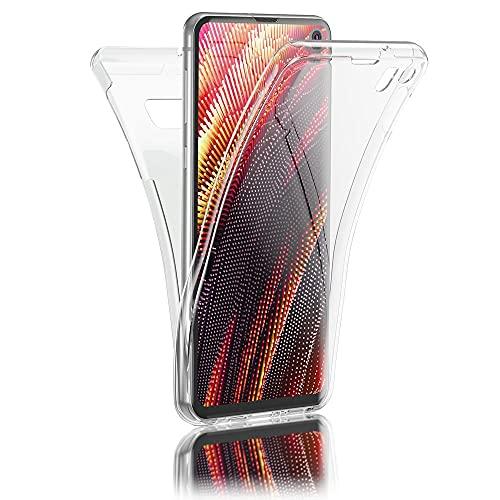 Kaliroo 360° Schutzhülle Klar kompatibel mit Samsung Galaxy S10E Hülle, Transparente Silikon R&um Handyhülle Full-Body Hülle Slim Cover, Dünne Handy-Tasche Phone Etui Vorne und Hinten Komplett-Schutz