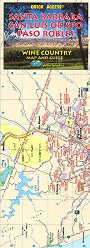 Santa Barbara/San Luis Obispo Wine Country, Californa Regional Map (Quick Access)