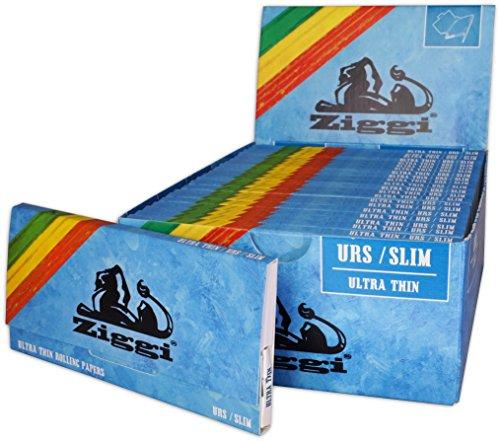 Ziggi Papers + Tips Slim ultra dünn 22Hefte á 32Blatt 110x44mm+ 32Tips 55x25mm