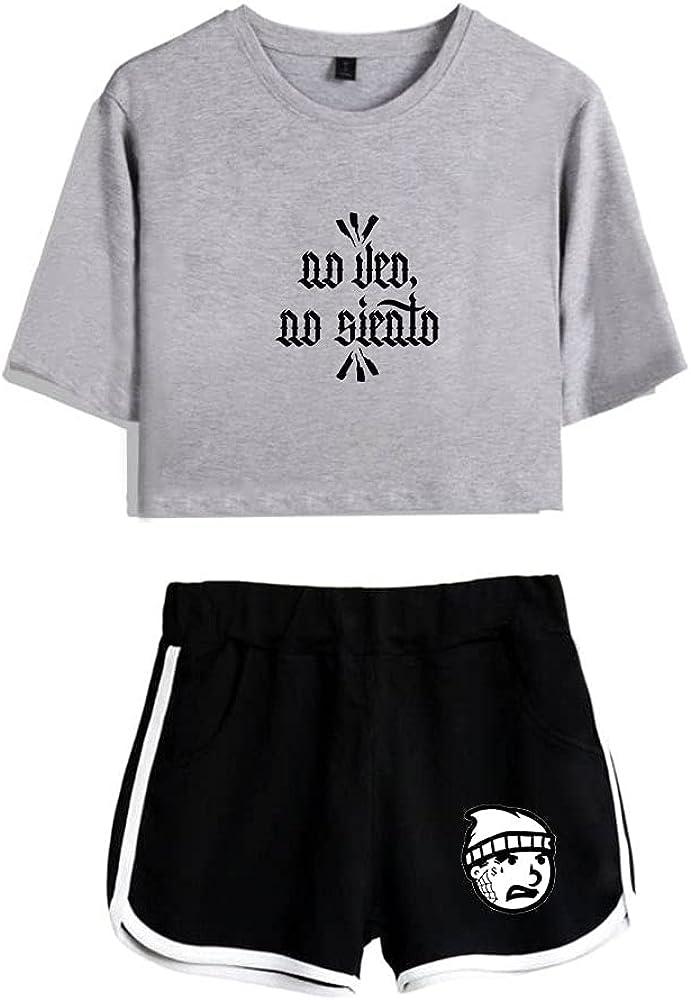 Tydres Gera MX 2 Piece Sets Hip Hop Short Sleeve Suit Womens Girl Set Casual Accessories Fashion Suit (GB-YM00722,L)