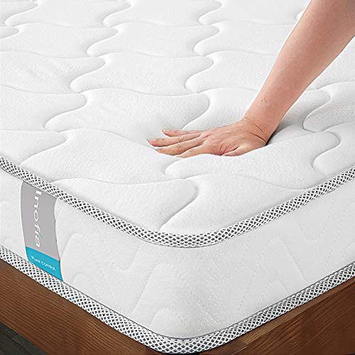 Full Mattress 8 Inch, Inofia Memory Foam Full Bed Mattress in a Box, CertiPUR-US Certified, Sleep Cooler, Pressure Relief Comfy Body Support, No-Risk 100 Night Trial, 10 Year Support