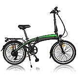 Bicicleta eléctrica, 350W 36V 10AH/Motor Bicicleta Plegable 25 km/h, 3 Modos de conducción,Resistencia 50-55 kilómetros, Motor sin escobillas de Alta Velocidad,Bici Electricas Adulto,