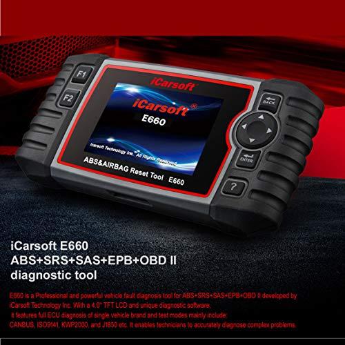 iCarsoft E660 ABS+SRS+SAS+EPB+OBD II Diagnostic Tool