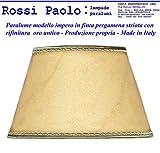 Paolo Rossi Abat-Jour Conique imitat avec Finition Or – Fabriqué en Italie Diamètre : 25 cm