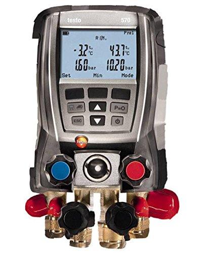 Testo 0563 5702 570-2 Set digitale Monteurhilfe, 4-Wege-Ventilblock, interner Datenspeicher, integrierte Vakuummessung, 3 Temperaturfühler anschließbar