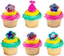 24 Trolls Hugs and Happiness Cupcake Rings Toppers
