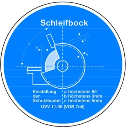 LEMAX® Schild Alu Schleifblock nach UVV 11.08 200mm