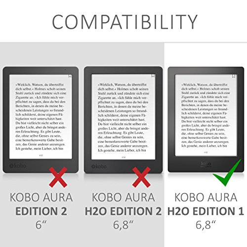 kwmobile Funda compatible con Kobo Aura H2O Edition 1: Amazon.es ...