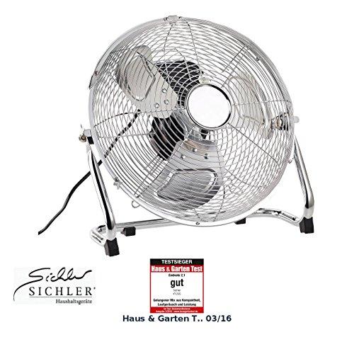 Sichler Haushaltsgeräte Windmaschine: Vollmetall-Bodenventilator mit 3 Geschwindigkeitsstufen, 55 W, Ø 30 cm (Ventilator Windmaschinen)