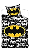 DC Universe Bettwäsche Batman Logo DC Comics-Bettbezug 160x200cm Kopfkissenbezug 70x80cm