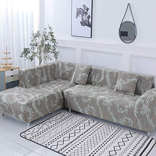 Funda de sofá Funda de sofá elástica Funda de sofá para Sala de Estar Funda de sofá de Esquina en Forma de L Chaise Longue Funda de sofá A15 1 Plaza