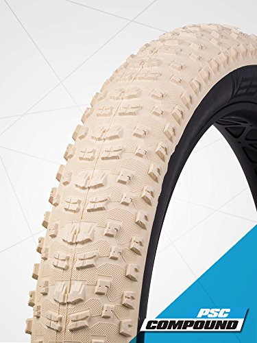 Bulldozer Vee Rubber 26 X 4.7 White Tubeless Ready 120tpi Folding Tire Fat Bike