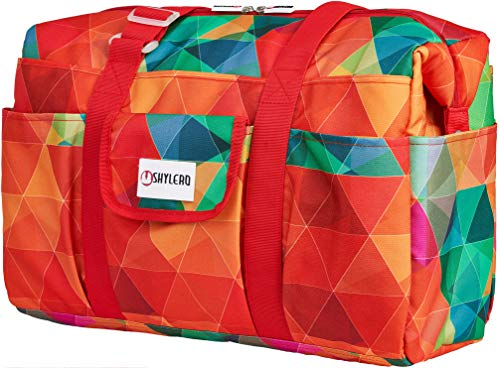 Utility Tote and Nurse Bag - 14 Outside and 7 Inside Pockets - Large Waterproof All Purpose Bag with Laptop Compartment - Work Tote Bags for Women - L18 xW7 xH14