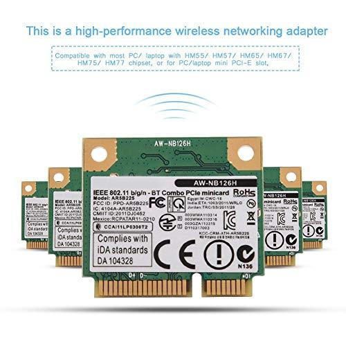 Ausla WiFi-Karte, 2.4G, 2 in 1, Bluetooth, WLAN, kabellos, für Mini PCIe-Karte, für Dell/ASUS/Toshiba/BenQ