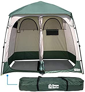 double camping shower