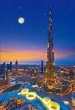 5D Dubai City Night Complete Diamond Drawing Kit de punto de cruz Arte Paisaje de alta calidad proporcionado por Diamond 3D Paint Round Diamond Diamond Drawing 30Cm * 40Cm Huzi