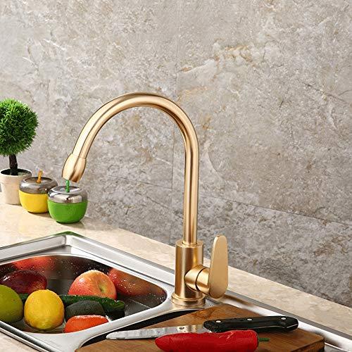 Kcakek Space Aluminium Gouden keukenkraan Sink warm en koud mengkraan Spray Rinser Waterval Spout Sink mengkraan Kitchen Spuitbus Drainage Vergadering Keuken Tool Nozzle Head