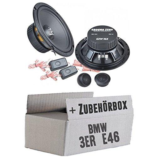 Ground Zero GZIC 16X - 16cm Lautsprecher System - Einbauset für BMW 3er E46 - JUST SOUND best choice for caraudio