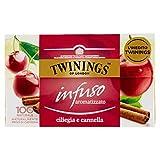 Twinings Infusiones - Cereza y Canela - Nuevas Infusiones Frutas y Hierbas sin Cafeína y 100% Naturales, Explosión de Sabor para Cualquier Momento del Día (20 Bolsas)