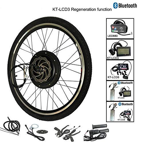Guoz 1500W LCD8 Bluetooth-Elektrofahrrad Umbau Motor Rad Kit Fahrrad Bluetooth Fahrrad Regeneration