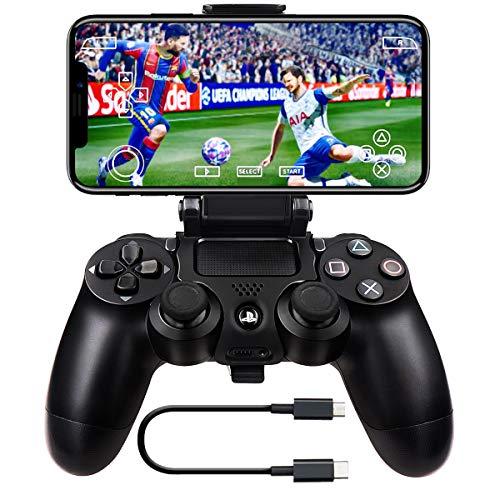 BLUELAKE performance Set di 2 Smart Clip per Smartphone Supporto con Fissaggio per Sony Dualshock Controller per Play Station 4