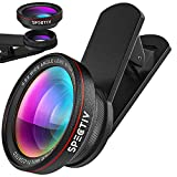 Spectiv iPhone-Android-Samsung Mobile Phones & Tablets Camera Lens for All Phone Camera-Super Macro Lens for Phone-Autofocus-0.6X Wide Angle +15x-Premium Design-Image Quality and Wide Angle Lenses.