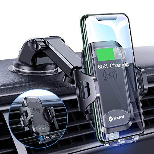 VICSEED Universal Wireless Car Charger Mount Qi...