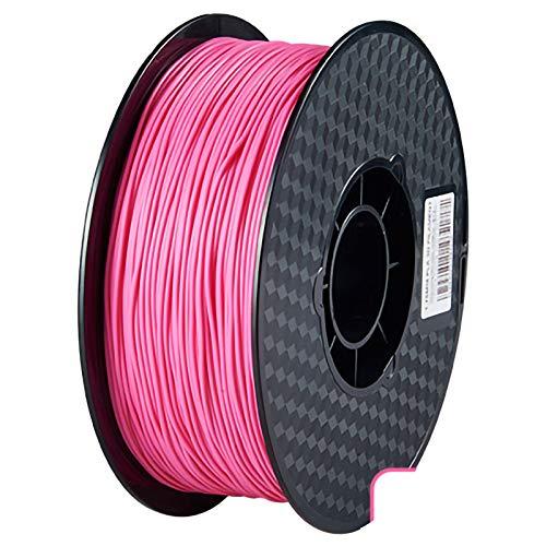 QDTD QualitäTs Pla Filament Feder 3D Filament Refills 1,75 mm Genauigkeit ± 0,02 100% Nein Blase 1 kg 2.2lb Kein Geruch Und Leicht Zu SchäLen Filament for Die Meisten 3D-Drucker(Color:Rosa)