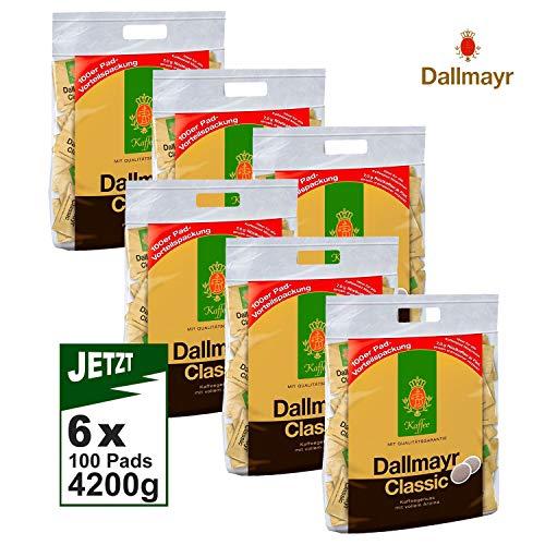 Dallmayr Pads CLASSIC 6x 100 (4200g) - Multipack Kaffee Pads, Cafe