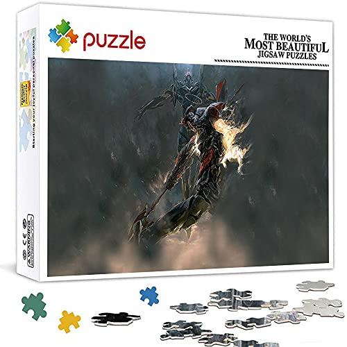 1000 piezas Puzzles Neon Genesis Evangelion Jigsaw puzzle para niños y adultos Juego educativo, rompecabezas de decoración familiar (75 x 50 cm)