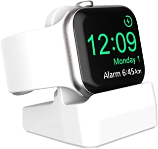 SPORTLINK Compact Stand for Apple Watch Series 5 / Series 4 / Series 3 / Series 2 / Series 1 / 44mm, 42mm, 40mm, 38mm - Compatible with Nightstand Mode (White)