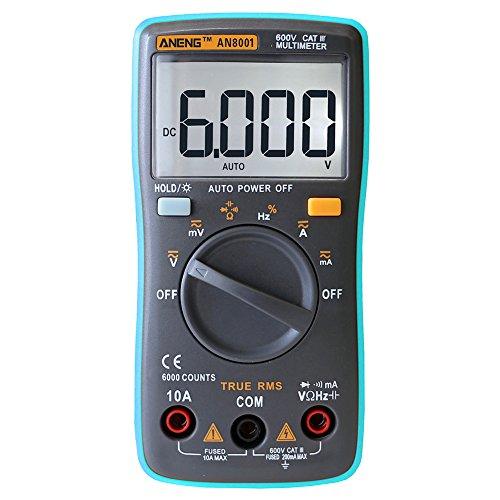prettygood7 multimeter digitaal - multimeter 6000 counts achtergrondverlichting AC/DC ampèremeter voltmeter ohm meter