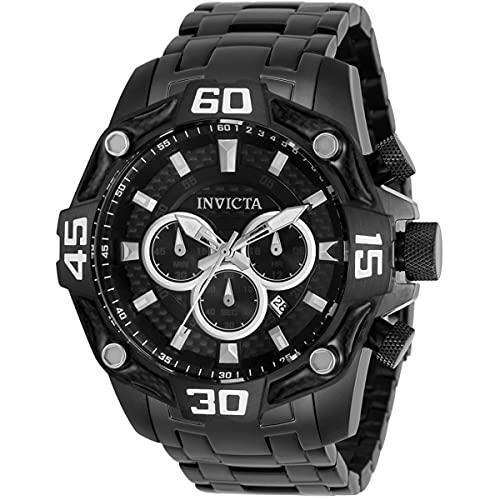 Invicta 33852 Pro Diver Reloj cronógrafo de cuarzo con esfera negra para...