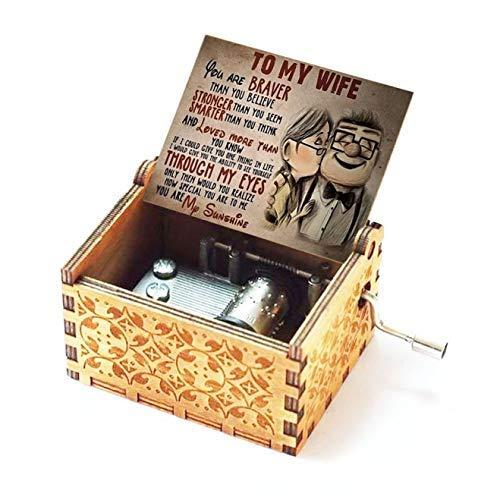 Spieluhr, Geschenk für Frau, Music You Are My Sunshine, antik, handgeschnitzt, Holz, Wohnkultur, Geburtstagsgeschenk (A-Wood)