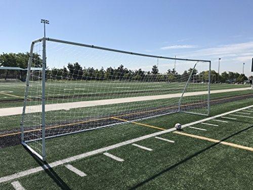 Pass Official Size 24 X 8 X 5 Ft. Steel Soccer Goal