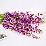 NO BRAND Llzpl Flor Artificial 97cm Sola Danza orquídea Flor de Seda Mariposa orquídea orquídea decoración del hogar Sala de Estar Piso Flor Planta Falsa Blanco lechoso