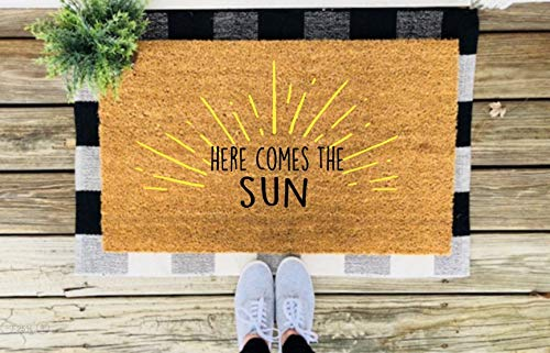 Yor242len - Zerbino Divertente con Scritta Here Comes The Sun
