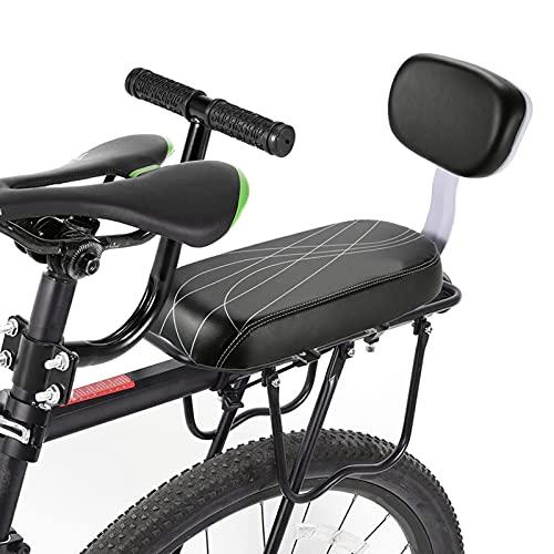 Juego de reposapiés del reposapiés del cojín del asiento trasero del asiento de la bicicleta, el cojín del descanso del bastidor con la montura de la parte posterior del apoyabrazos, fácil de desmonta